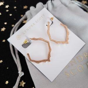 Kendra Scott Miku Hoop Earrings In Rose Gold
